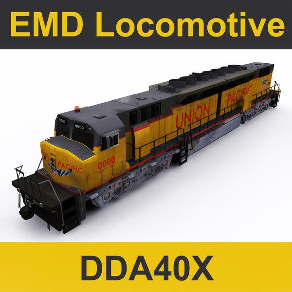3D model emd locomotive