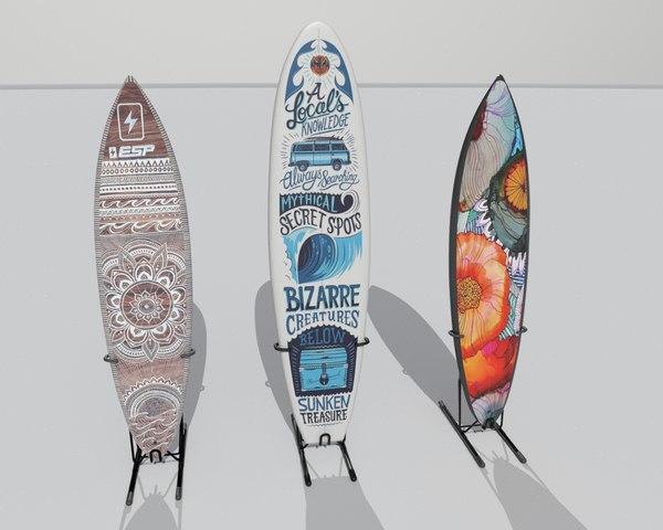 surf board 3D