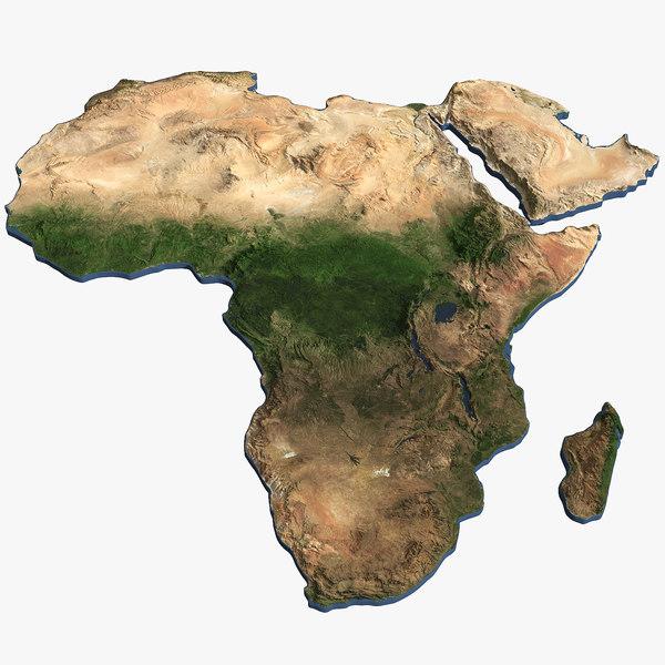 3D africa continent model