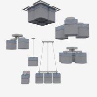 lamp set 3D model