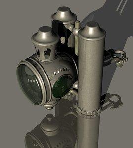 3D bicycle lantern double kerosene