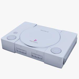 ps1 console 3d model