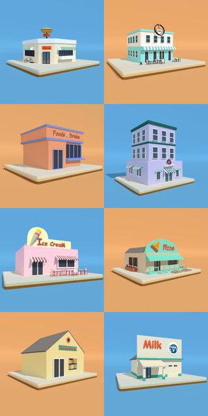 3D shops model
