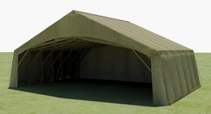 ww1 aircraft tent hanger 3D model