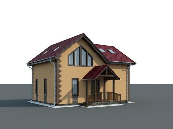 3D model cottages