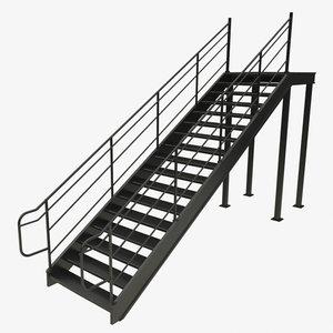 3D metal stair model