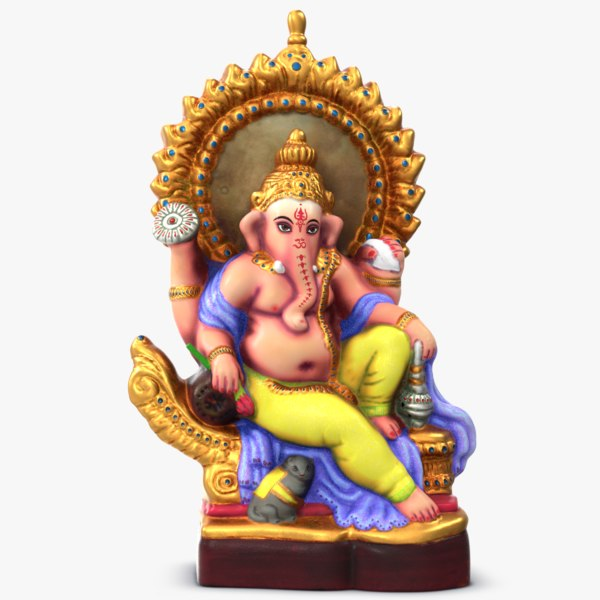 ganesha colored statue 3D model