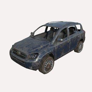 car abandoned model