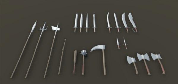 3D model pack weapons rpg