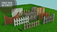 Wooden Fence Pack (10 Fences)