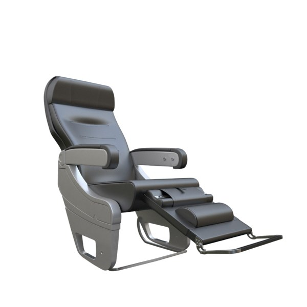 3D chair airplane aircraft seat model
