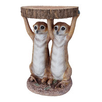 table animal meerkat sisters 3D model