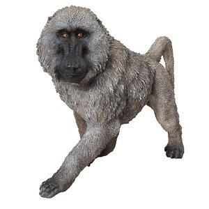 deco figurine monkey walking 3D model