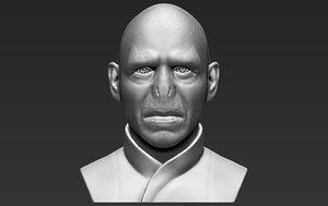 3D lord voldemort bust ready model
