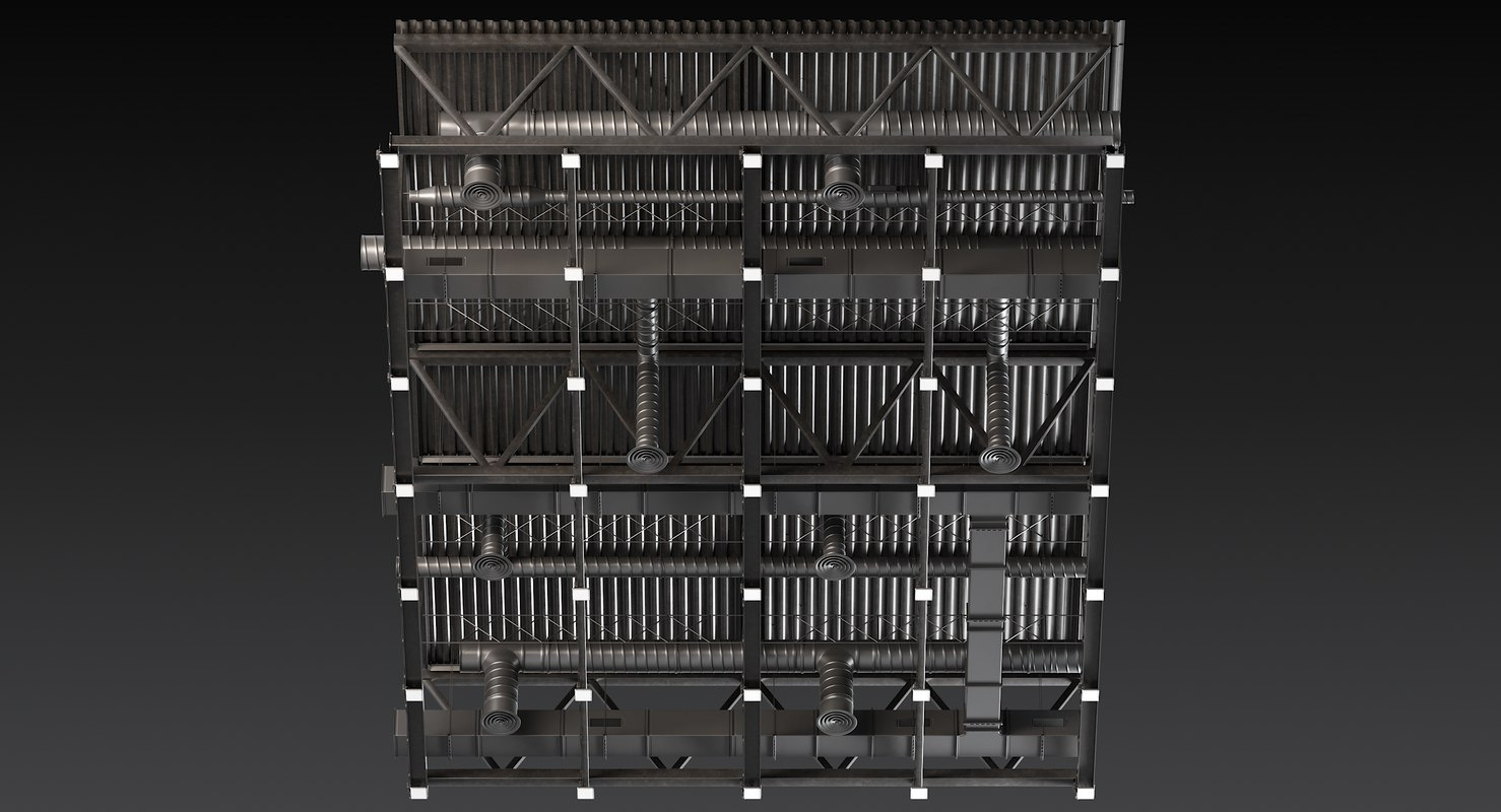 3D model ceiling ventilation 25
