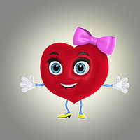 cool cartoon heart 3d max