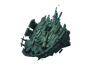 seabed wreckage - wreck 3D model