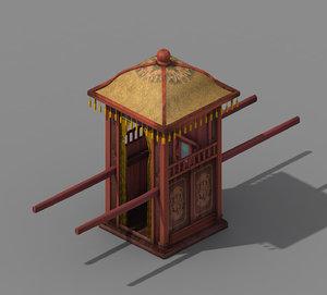 3D model official - transportation wooden