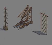Siege weapons - knife ladder - ladder truck