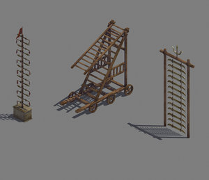 3D model siege weapons - knife
