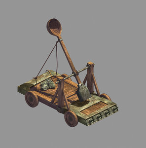 siege weapons - catapult 3D