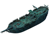 3D seabed wreckage - wreck model
