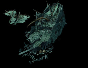 3D model seabed wreckage - 02