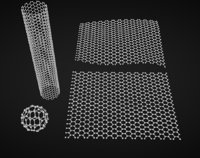 3D carbon structures graphene nanotube