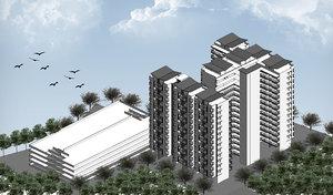 rise building 3D model