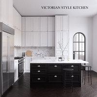 neptune victorian kitchen 3D model