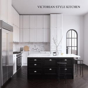 neptune victorian kitchen 3D model