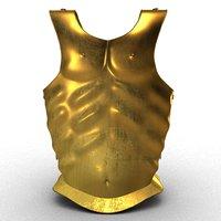 3D brass body armor model