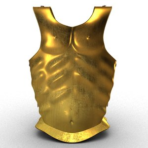 3D brass body armor model