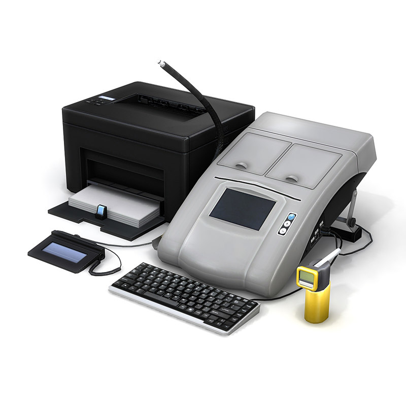 breathalyzer machine signature 3d model