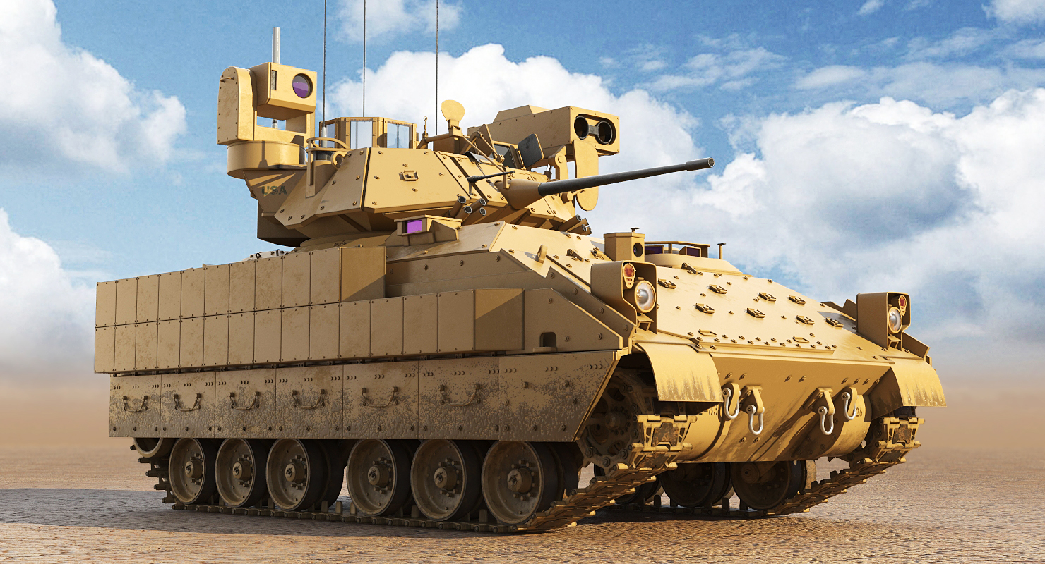 tracked military 9 1 3D model
