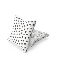 3D ikea cushion black white model