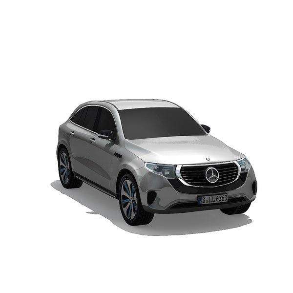 3D eqc suv 2020 model