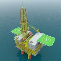 oil drill 3D model