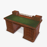 3D antiquare table pbr