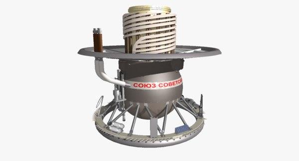 3D venera space probe model