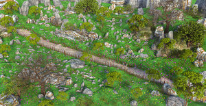 path cartoon forest model