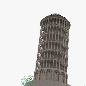 pisa tower 3D