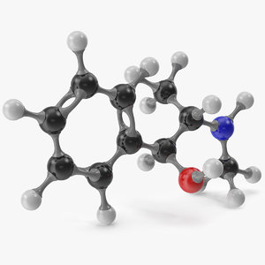 3D ephedrine molecular model