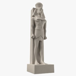 ancient egyptian statue ramses 3D model