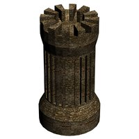 3D medieval tower 1