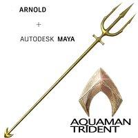 3D aquaman trident