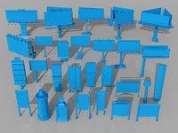 3D billboards - 28 pieces