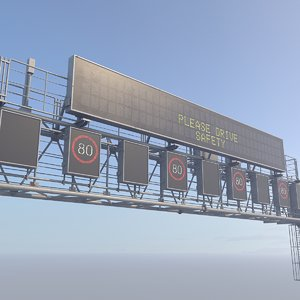 electronic traffic information display 3D model