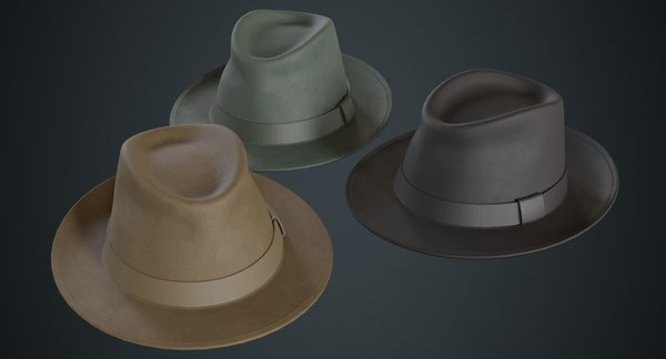 fedora hat 1a 3D model