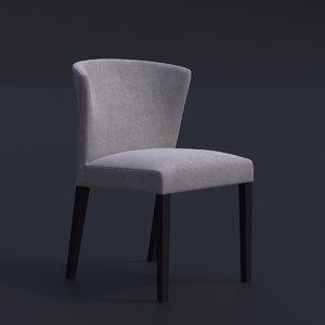 3D habitat valentina chair bar model